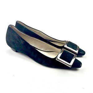 Talbots Black Suede Leather Slip On shoes Women's